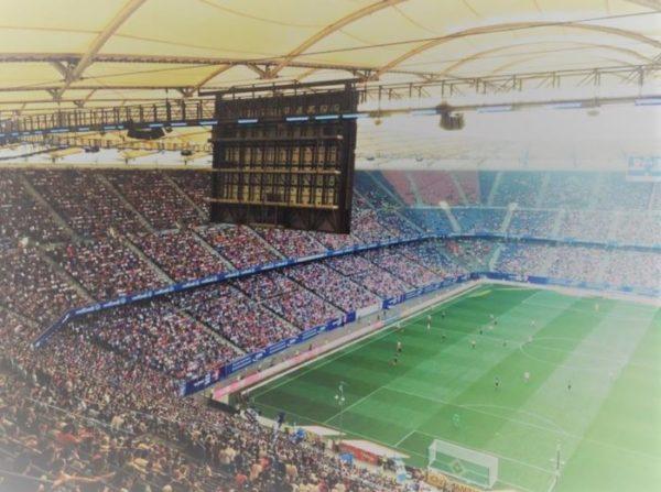 vue sur un stade de foot