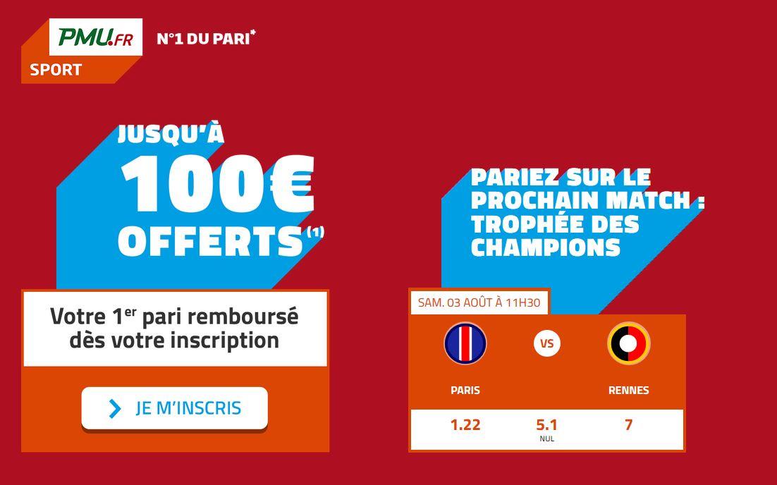100 euros offert PMU