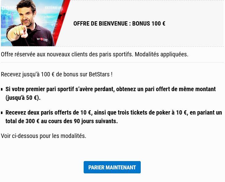 100 euros offert betstars