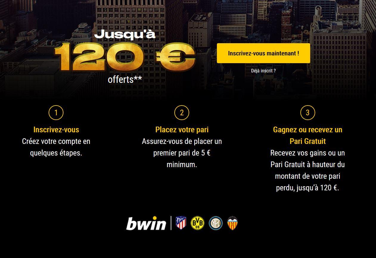 120 euros offert bwin