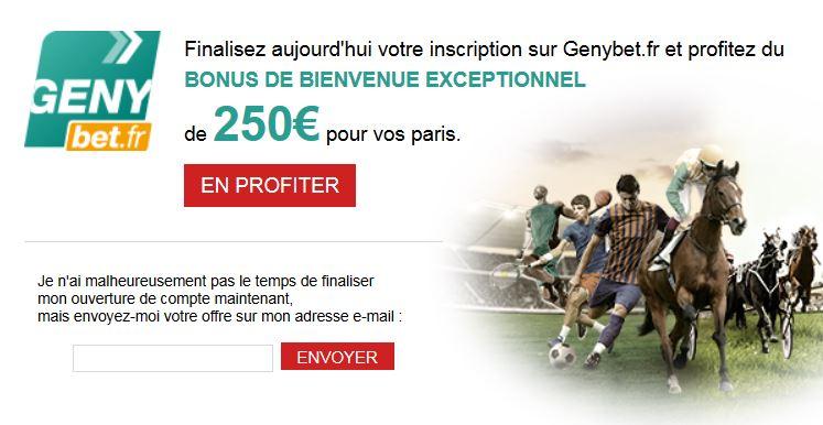 250 euros offert genybet