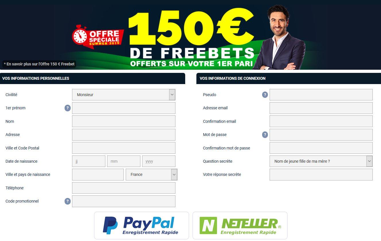netbet 150 euros offert