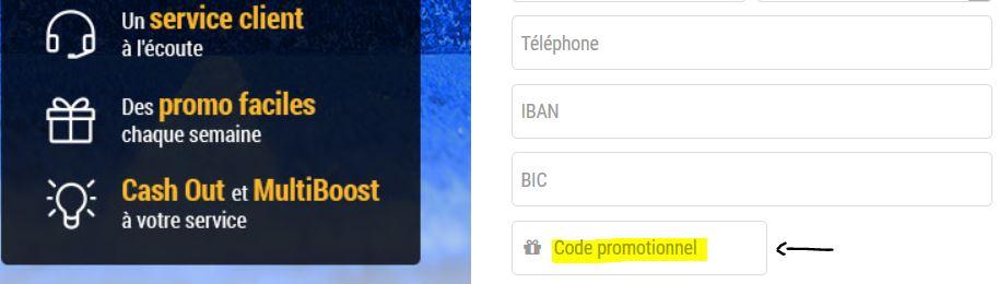 champ code promo francepari