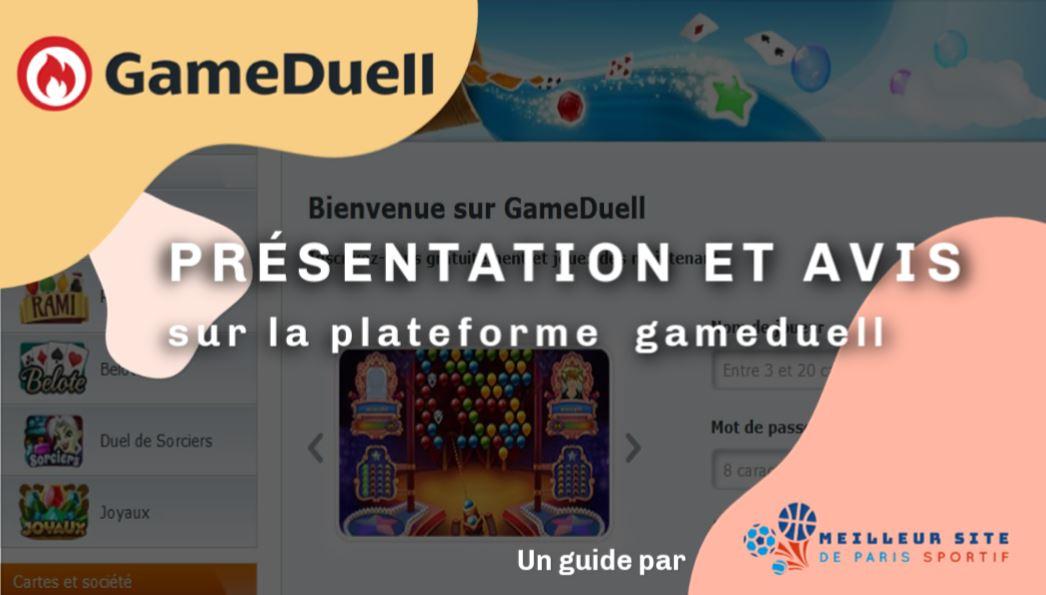 gameduell présentation et avis sur la plateforme