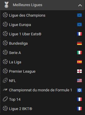 les compétitions pour parier sur barrièrebet.fr