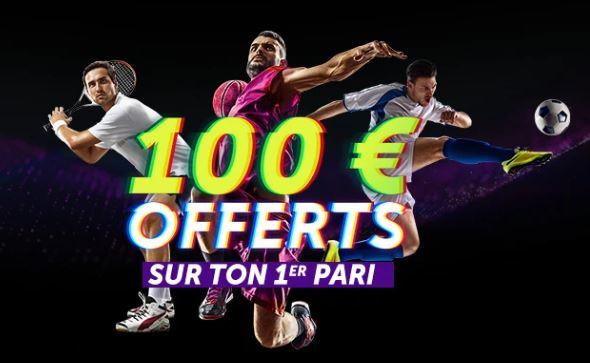 avis sur le bonus de bienvenue du site de paris sportif Vbet avec ses 100 euros remboursés en deux fois