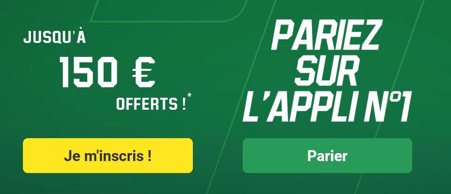 150 euros offerts le nouveau bonus d'Unibet - parier sur l'appli numéro 1