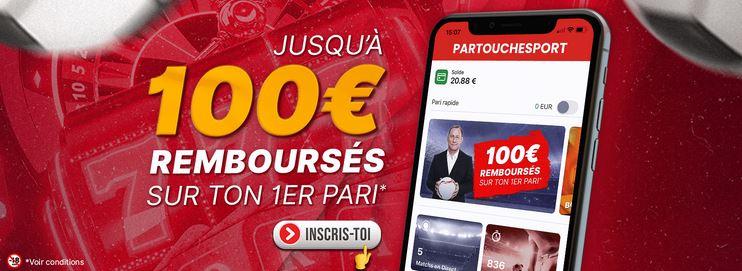 le nouveau bonus de Partouche Sport 100 euros remboursé en deux fois en cas de premier pari perdant
