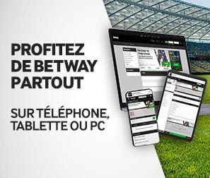 le bookmaker Betway.fr accessible depuis un smartphone une tablette ou un pc