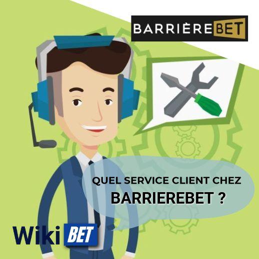 quel service client chez barrierebet