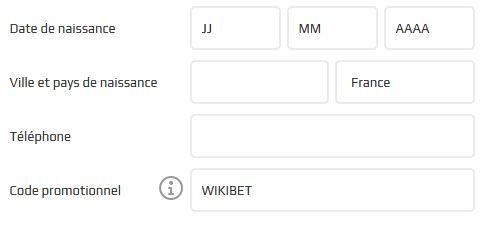 rentrez WIKIBET dans le champ code promotionnel sur le formulaire dinscription du bookmaker Netbet pour recevoir 10 euros de freebets