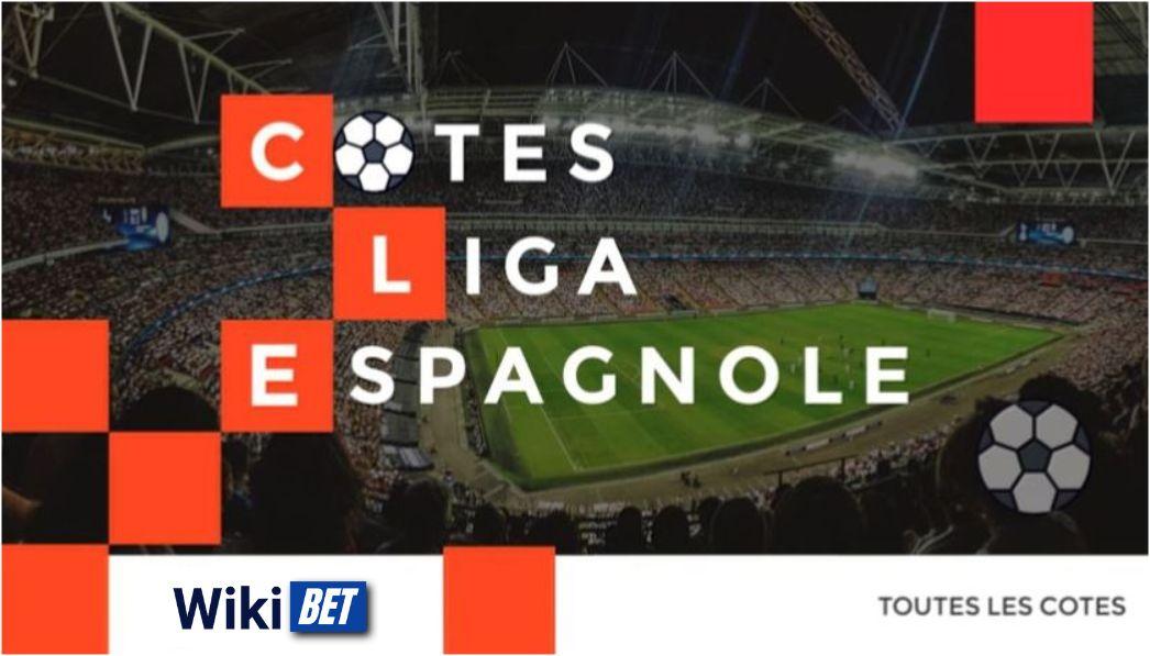 toutes les cotes de la Liga espagnole de football pour comparer et parier Wikibet