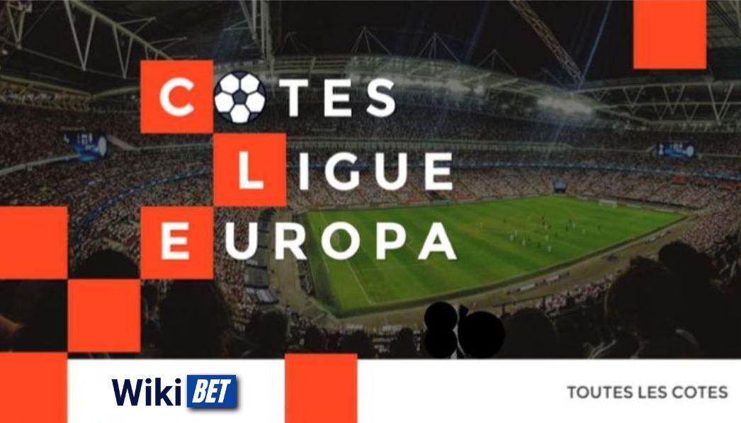 toutes les cotes de la Ligue Europa de football pour comparer et parier Wikibet