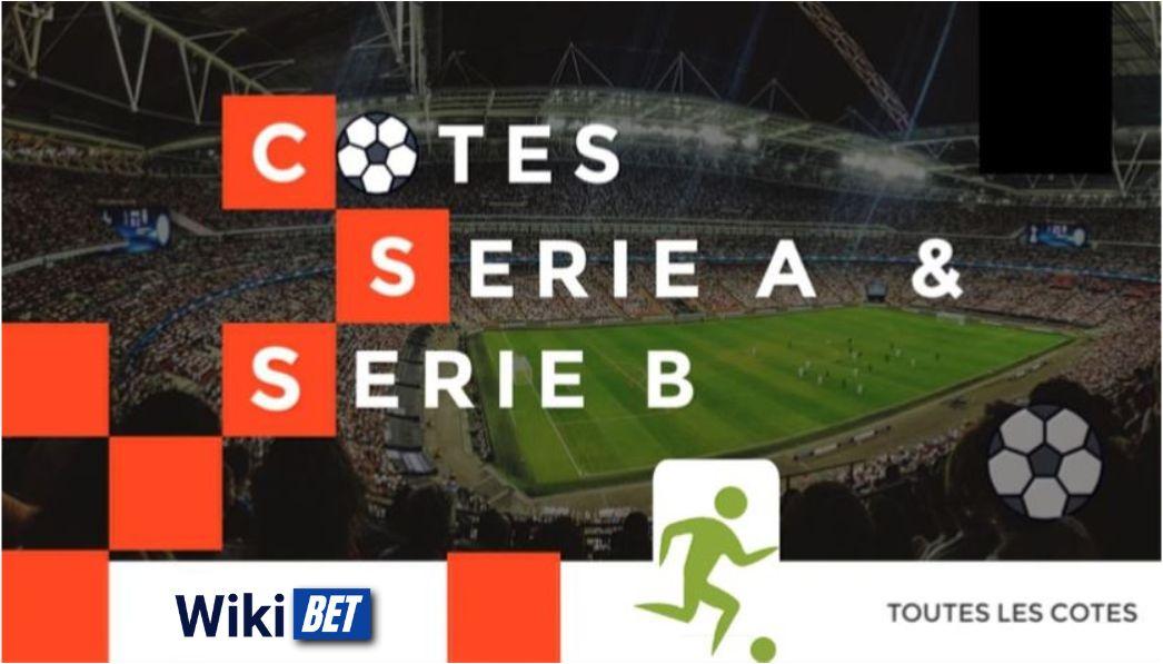 toutes les cotes de la serie A et serie B de football italienne pour comparer et parier Wikibet
